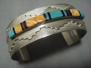 Vintage Navajo Turquoise Sterling Native American Jewelry Silver Bracelet-Nativo Arts