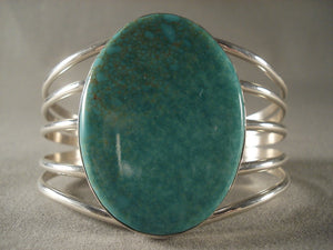 Wide Wide Vintage Navajo Turquoise Native American Jewelry Silver Bracelet-Nativo Arts