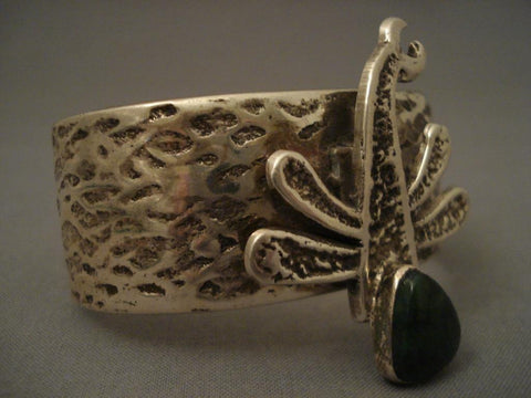 Wonderful Navajo Dragonfly Native American Jewelry Silver Bracelet-Nativo Arts