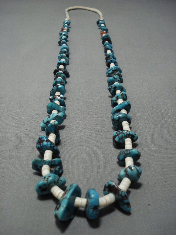 Wonderful Vintage Santo Domingo Turquoise Necklace-Nativo Arts