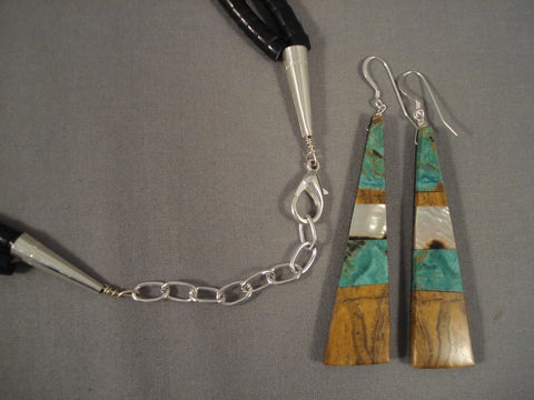 Wow Santo Domingo Turquoise Trapezoid Pendants Sterling Native American Jewelry Silver Necklace-Nativo Arts