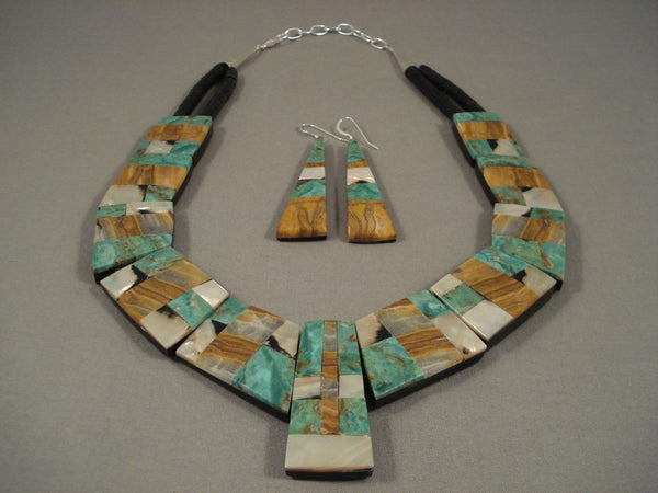Wow Santo Domingo Turquoise Trapezoid Pendants Sterling Native American Jewelry Silver Necklace