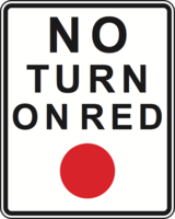 No turn on red light