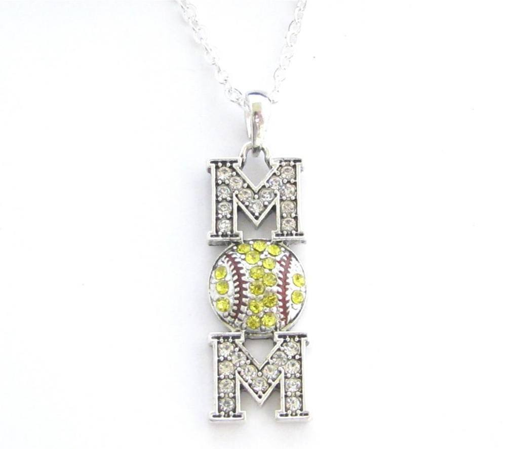 customizable gimmedat base jewelry second products sb softball necklace enamel