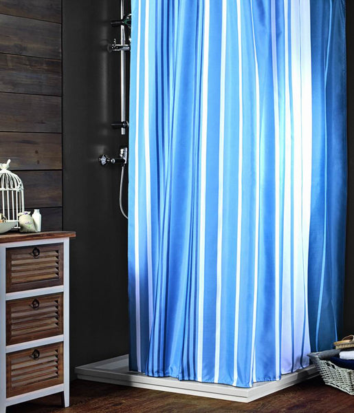 Blue Stripes. Shower Curtain FREE SHIPPING - DecoBuster