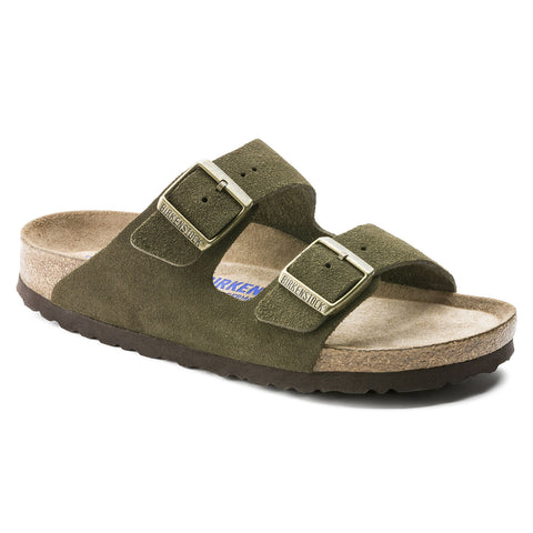 Arizona Soft Footbed Suede Leather- Forest