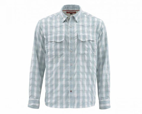 Big Sky Longsleeve Shirt - Fog Plaid