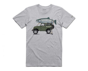 Trout Cruiser T-Shirt - Grey Heather