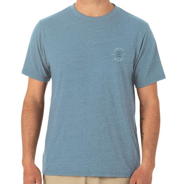 Homegrown Tee- Heather Blue Reef