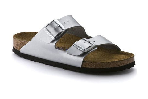 Arizona Soft Footbed Birko-Flor - Silver