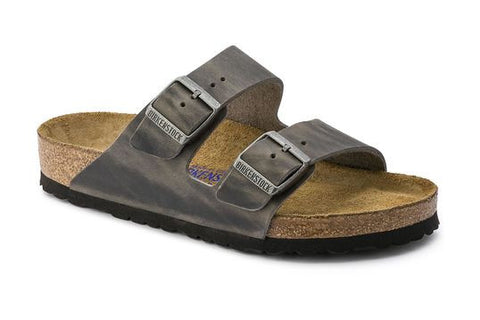 Arizona Soft Footbed Oiled Leather - Iron