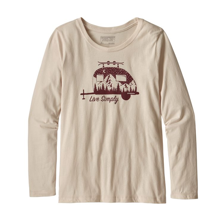 Girls' Long Sleeved Graphic Organic T-Shirt