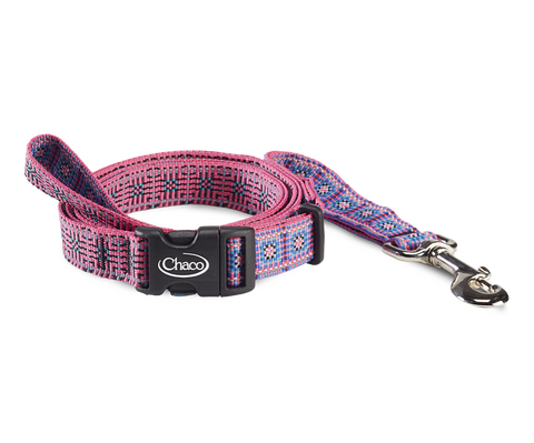 Dog Leash- Squared Magenta