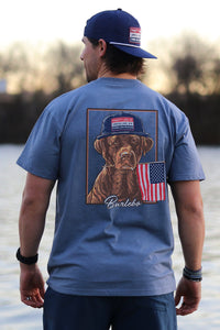 Dog and Flag SS Pocket T-shirt