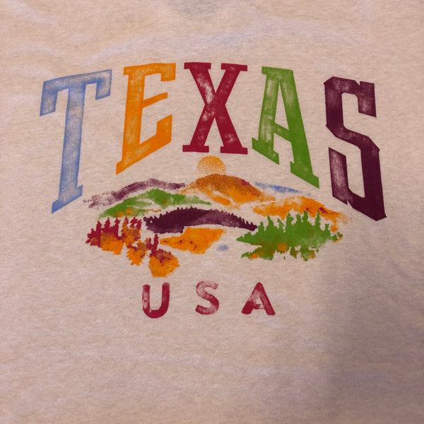 Spring Into Texas Cropped SS T-Shirt