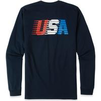 USA Streaking Long Sleeve Pocket Tee