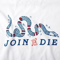 Join or Die Long Sleeve Pocket Tee