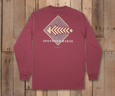 Aztec Catch Tee- Long Sleeve