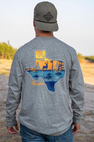 Life in Texas LS Pocket T-Shirt