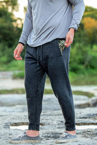 Fleece Jogger- Black: Camo Pockets