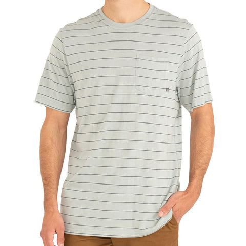M Bamboo Channel Pocket Tee