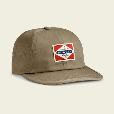Posse Badge Strapback- Olive Green