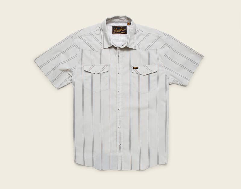 H Bar B Tech Shirt -Relic Stripe: Silver Birch