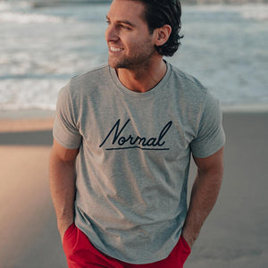 Normal Script T-Shirt SS - Grey