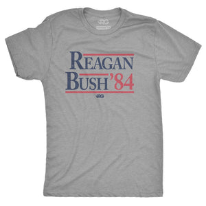 Reagan Bush '84 Vintage Tee- Dark Heather Gray