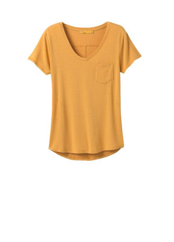 Foundation Short Sleeve V-Neck Top - Golden Sky