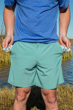 Performance Shorts - Chalky Mint: Flying Duck Pocket