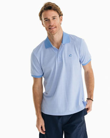 M Jack Dinghy Stripe Performance Pique Polo