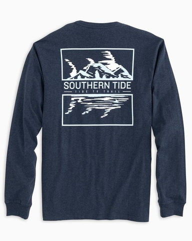 LS Tide To Trail Skipjack Scene T-Shirt - True Navy