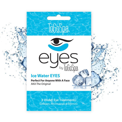 Ice Water EYES -  Soothe, moisturize  de-puff with the original Ice Water EYES. Puffy red eyes have met their match & in just one 15-20 minute treatment your eyes will be refreshed and hydrated!  And as always.. No Parabens, No Dyes.