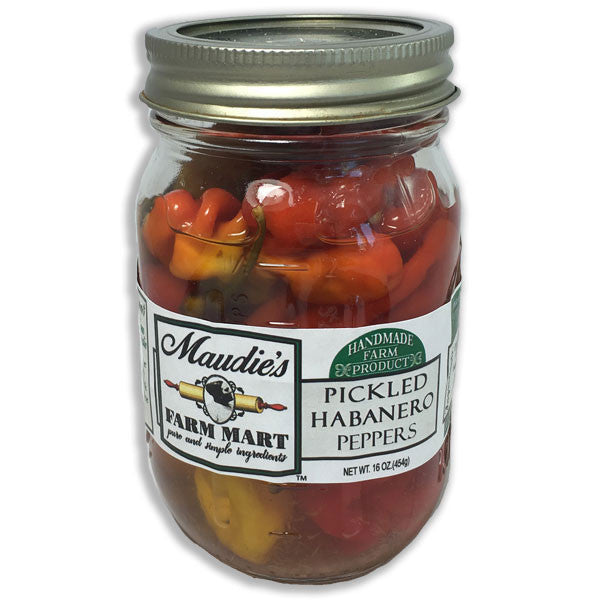 Pickled Habanero Peppers: 16 ounce jar