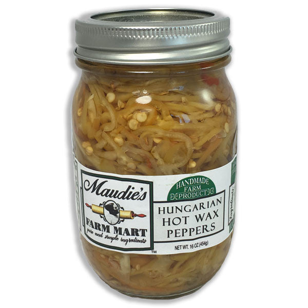 Hungarian Hot Wax Peppers: 16 ounce jar