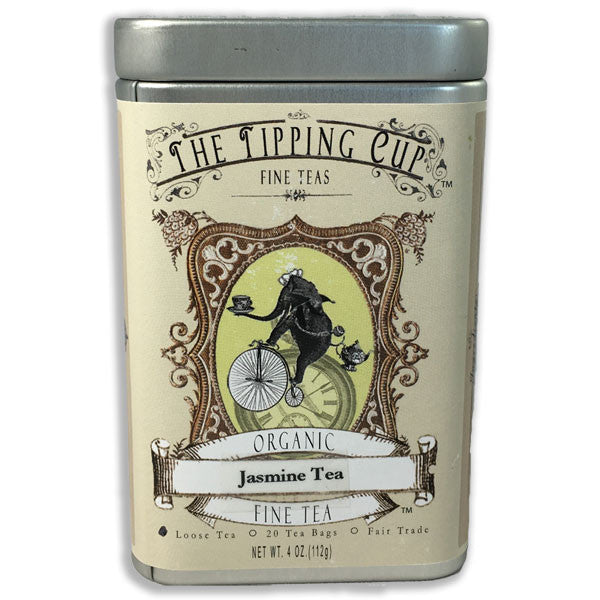 Organic Jasmine Tea - 4 ounce tin: loose leaf and tea bags