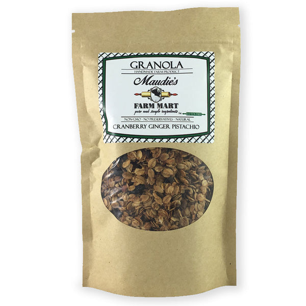 Small Batch Granola: Cranberry Ginger Pistachio, Gluten free