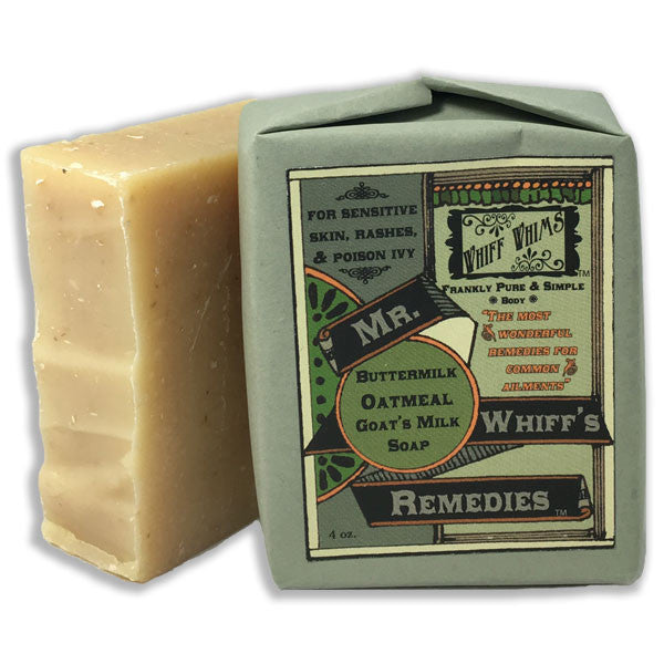 Mr. Whiff's Remedies: Buttermilk Oatmeal Goat's Milk Soap, for sensitive skin, rashes & poison ivy