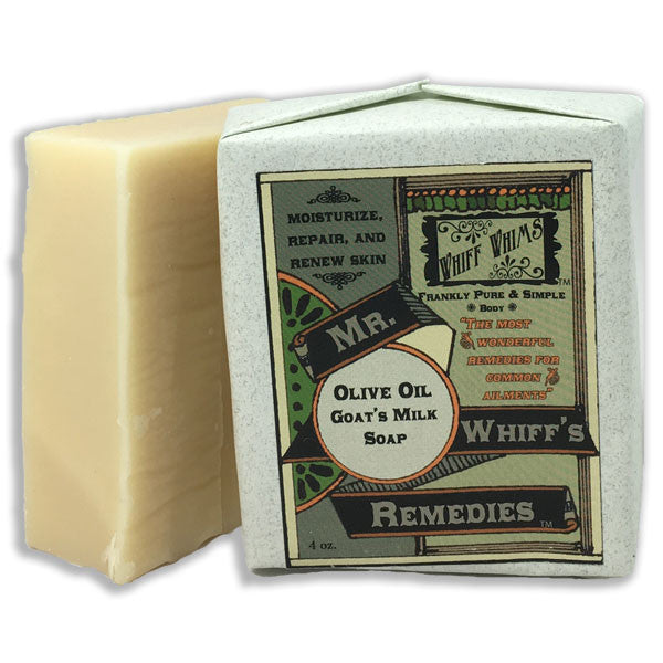 Mr. Whiff's Remedies: Olive Oil Goat's Milk Soap, moisturize, repair, and renew skin