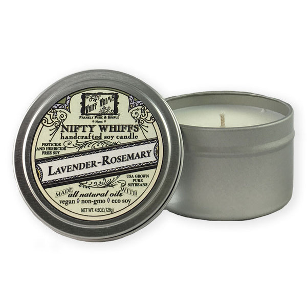 Nifty Whiffs: Lavender Rosemary Soy Candle