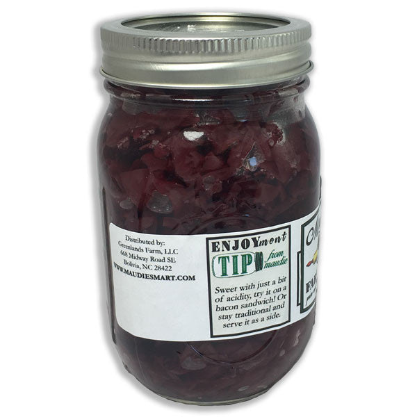Red Cabbage and Wine: 16 ounce jar, left side