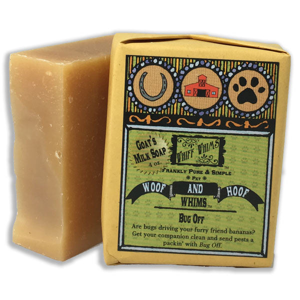 Woof and Hoof: Bug Off Goat's Milk Soap, bug repellant