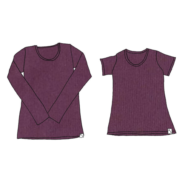 Plum Rib Yoga - Women's Essential Tee