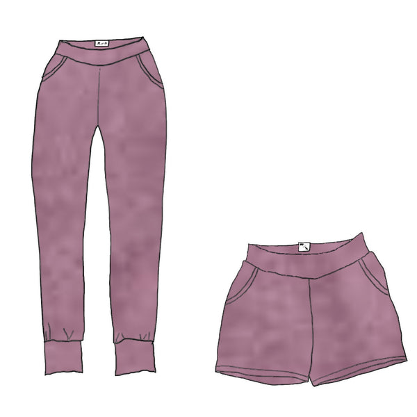 Mauve Orchid Heather YOGA - Women's Lakeside Joggers / Shorts