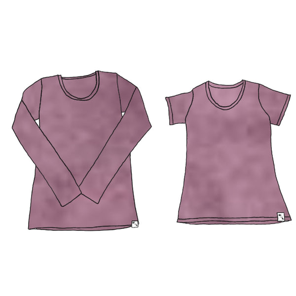 Mauve Orchid Heather YOGA - Women's Essential Tee