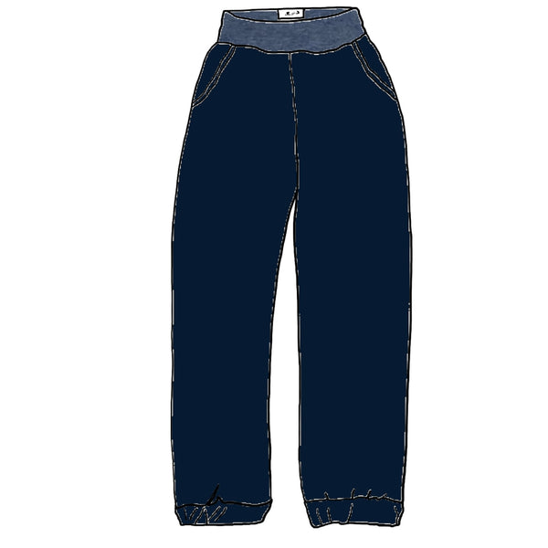 Midnight Stretch Woven - Lakeshore Bottoms