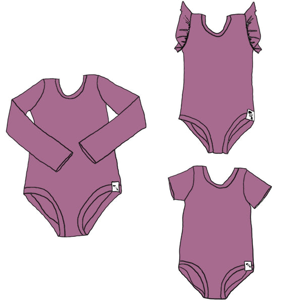 Mauve YOGA FLEX - Body Suit {4 sleeve lengths}
