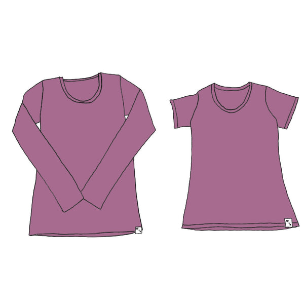 Mauve YOGA FLEX - Women's Essential Tee