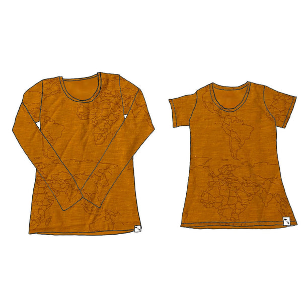 Chestnut Maps SLUB - Women's Essential Tee